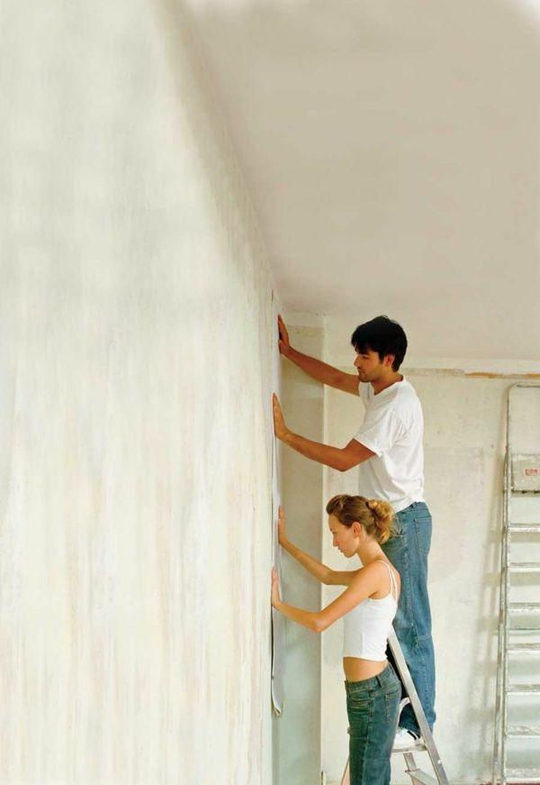 richtig tapezieren gestalten sie ihre w nde mit neuen tapeten diy pinterest tapezieren. Black Bedroom Furniture Sets. Home Design Ideas