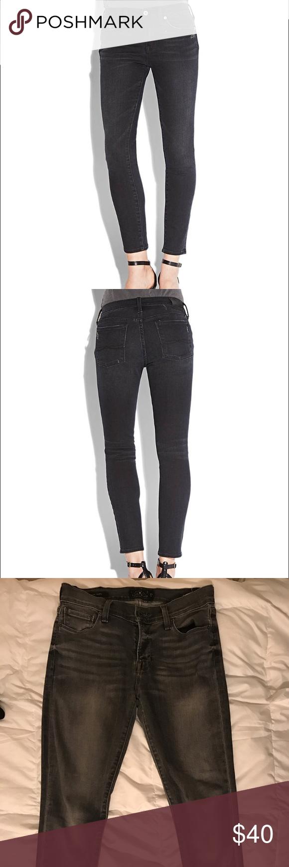 Lucky Brand faded black Brooke Skinny size 2/26 Lightly used, faded black skinny jean in size 2 Lucky Brand Jeans Skinny