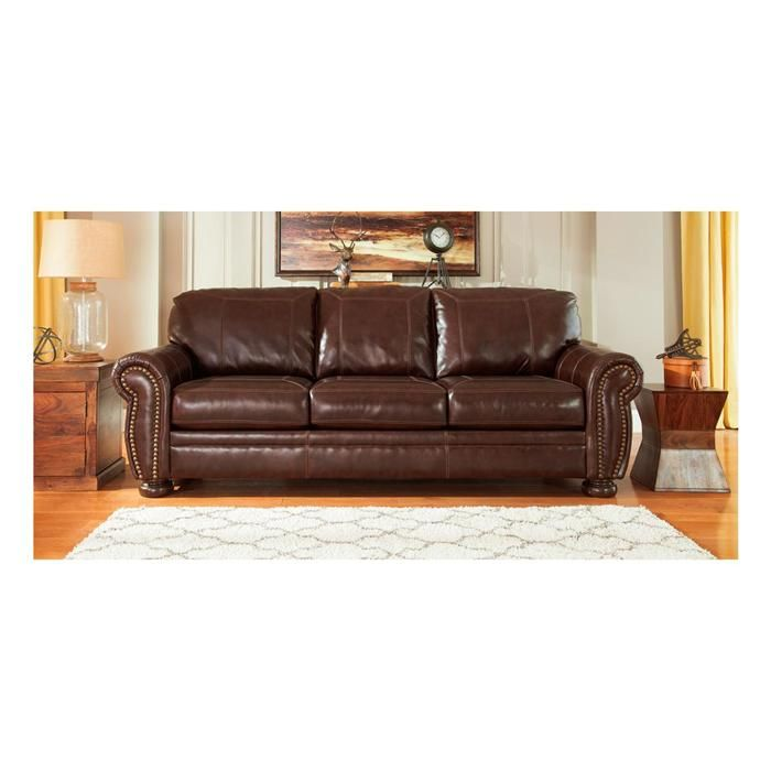 Banner Leather Sofa In Coffee