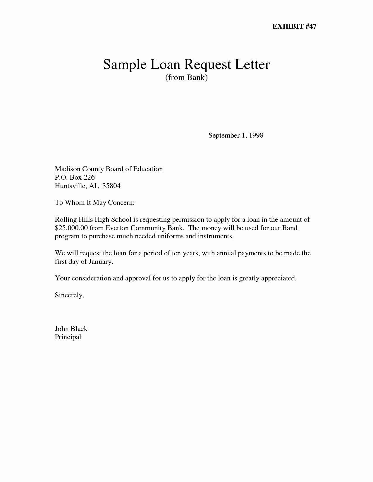 Personal Loan Proposal Template Unique Application Letter
