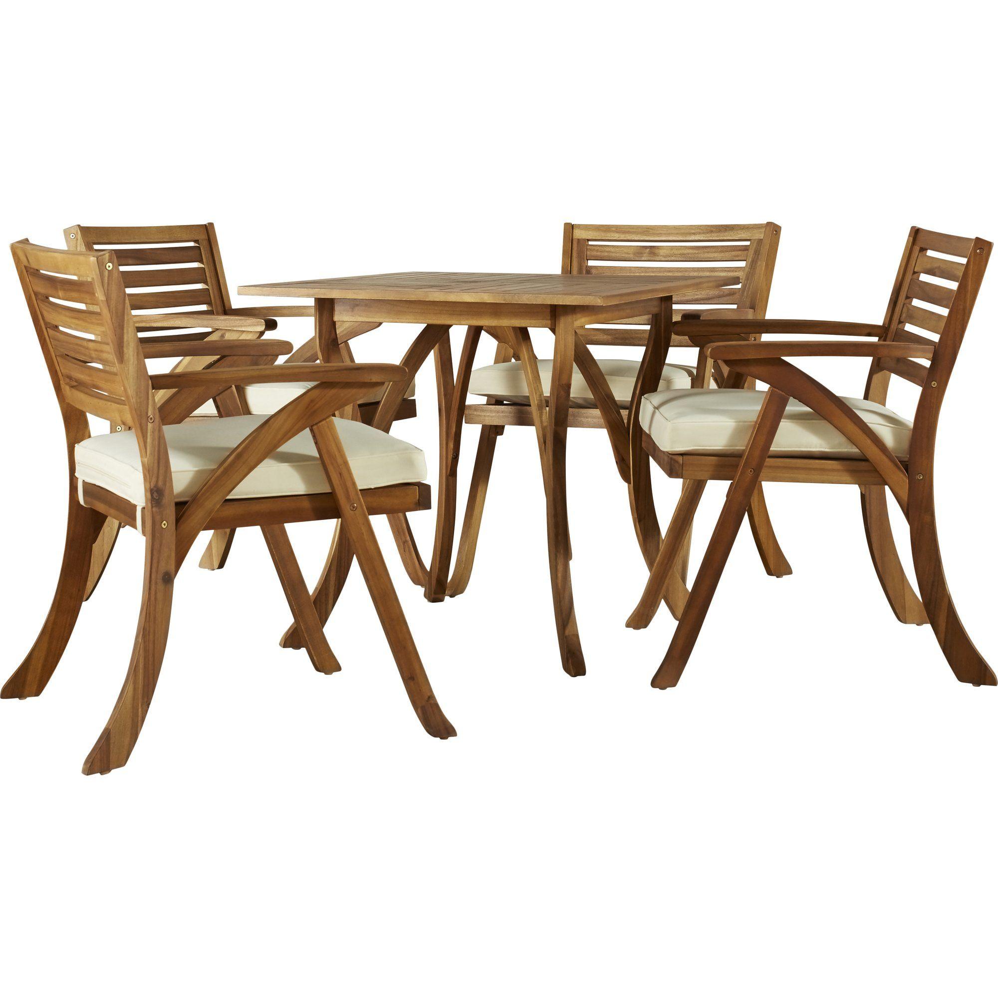 Ajax 5 Piece Dining Set With Cushion Patio Dining Set Patio Dining Outdoor Dining Set