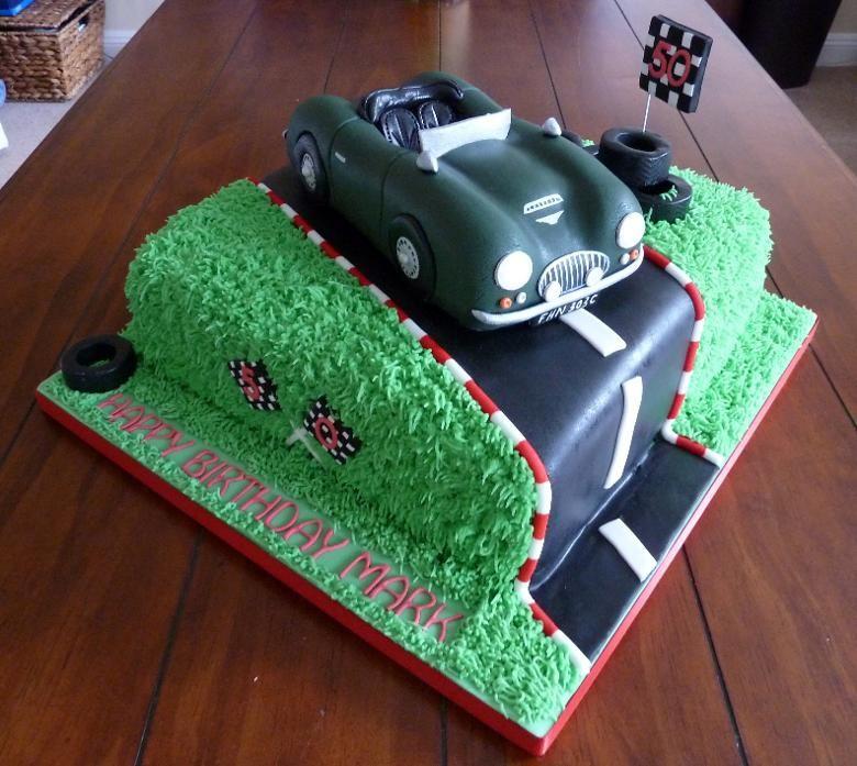 austin healey car cake pans Laura Cooks Cakes Graduation Party