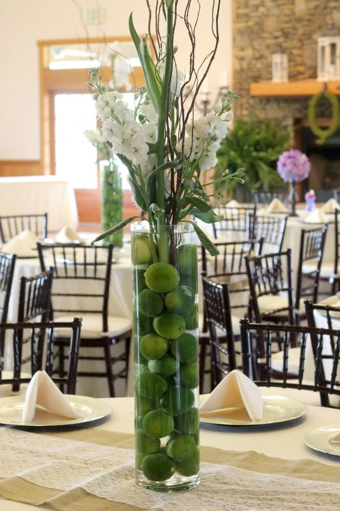 Purple Green Wedding Weddingcenterpiece By PartiesforPennies