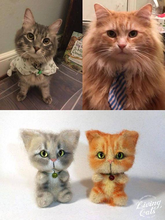 Custom Pet Portrait Toy Cat Art Plushie Chibi Birthday