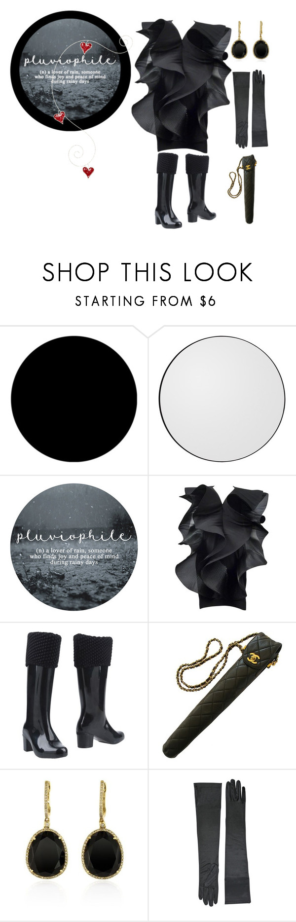 """Pluviophile"" by semplicementefashion ❤ liked on Polyvore featuring Wall Pops!, AYTM, Pierre Cardin, Melissa, Chanel and Effy Jewelry"