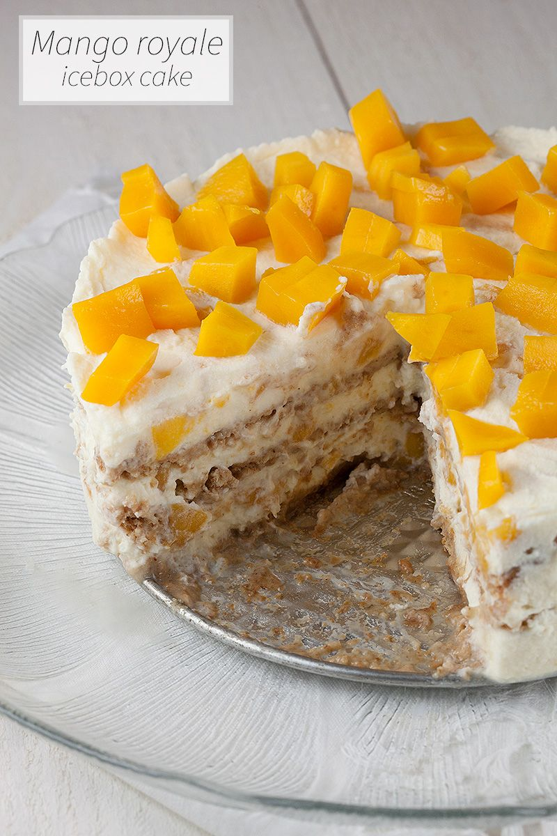 With just four ingredients you can't go wrong by making this amazing mango royale icebox cake. Sweet, soft and super easy to make. Recipe for 6 people.