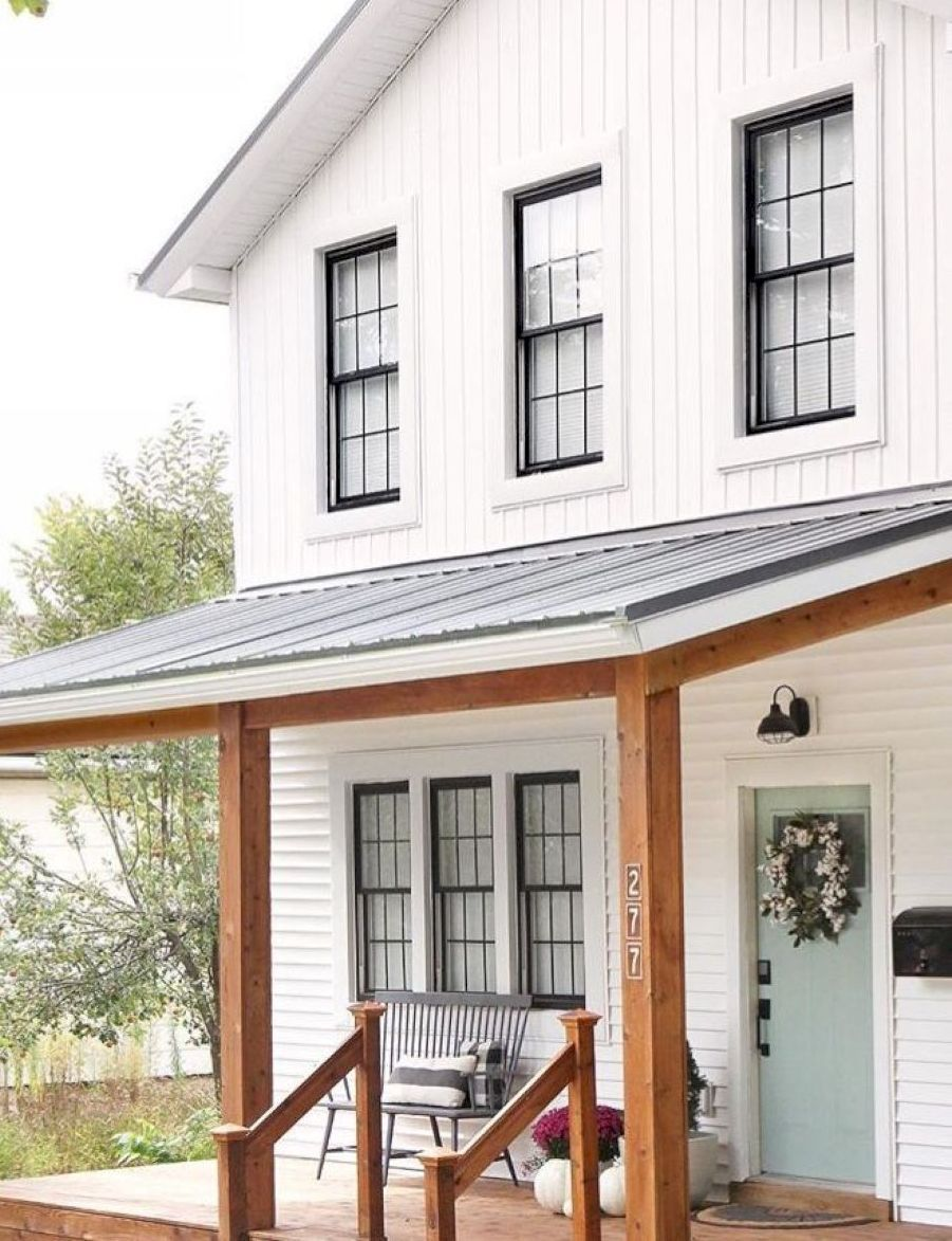 06 Awesome Farmhouse Porch Design and Decor Ideas | Pinterest ...