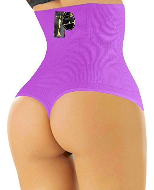 84505e1576 THONG SHAPERQUEEN 102 - Women Waist Cincher Girdle Tummy Slimmer Sexy Thong  Panty Shapewear at Amazon Women s Clothing store