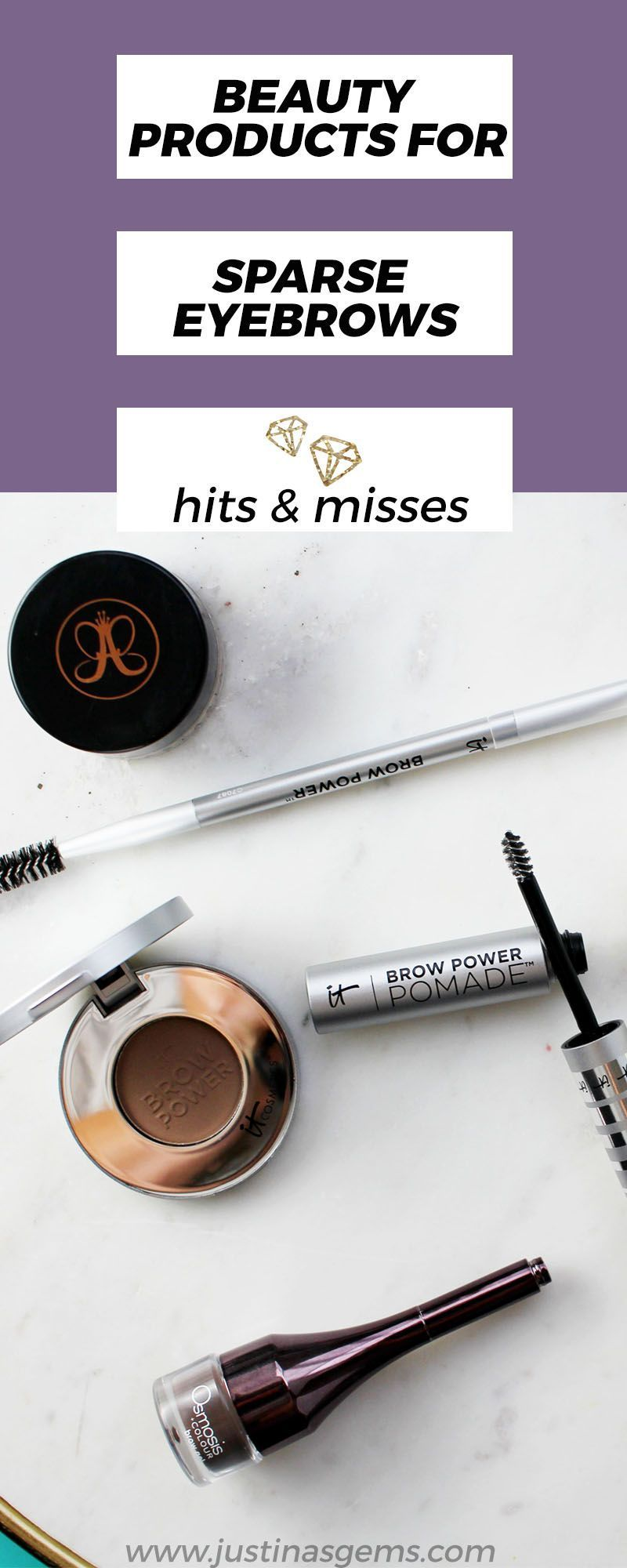 Beauty products for sparse eyebrows #DiyBeautyProducts # ...