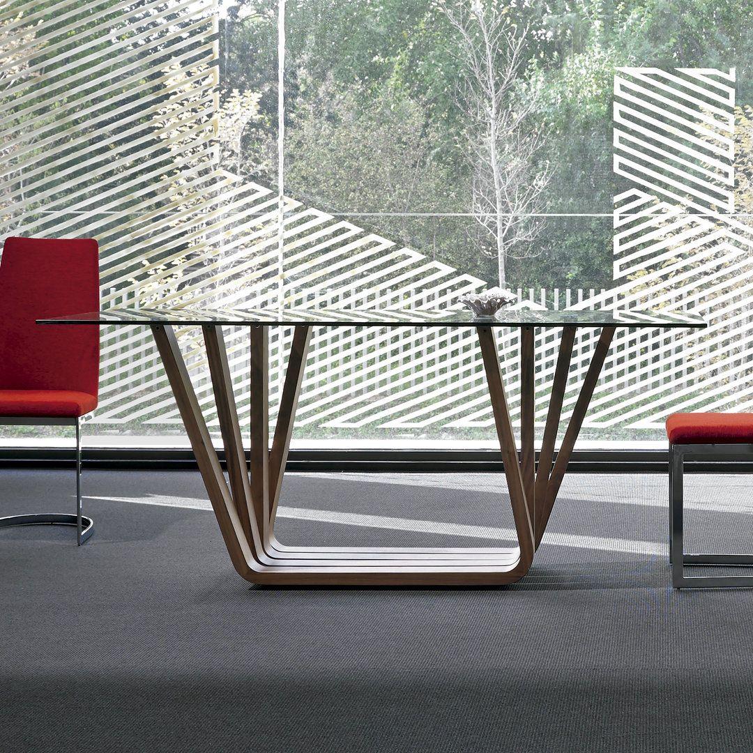 Mesa de comedor moderna vicenza glass mesas comedor for Casa moderna vicenza