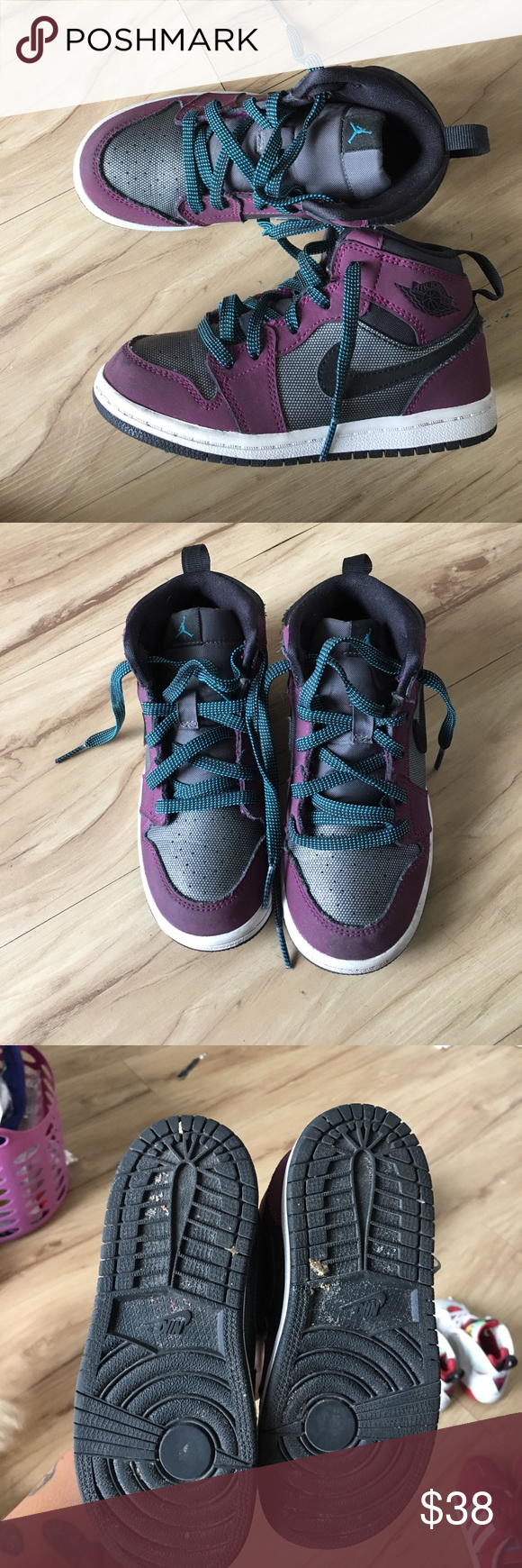 "cheap for discount dc234 ce8e6 Air Jordan 1 Retro High GG ""Mulberry"" Barely used, the bottoms will ..."