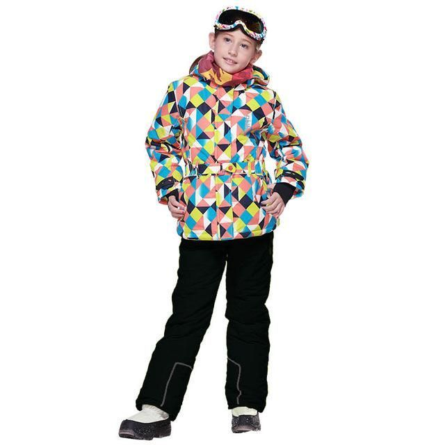 DETECTOR Windproof Hooded Ski Snowboard Set - Kid's