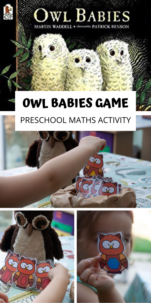 Owl Babies Math Game For Preschoolers Math Activities Preschool Preschool Math Games Baby Owls