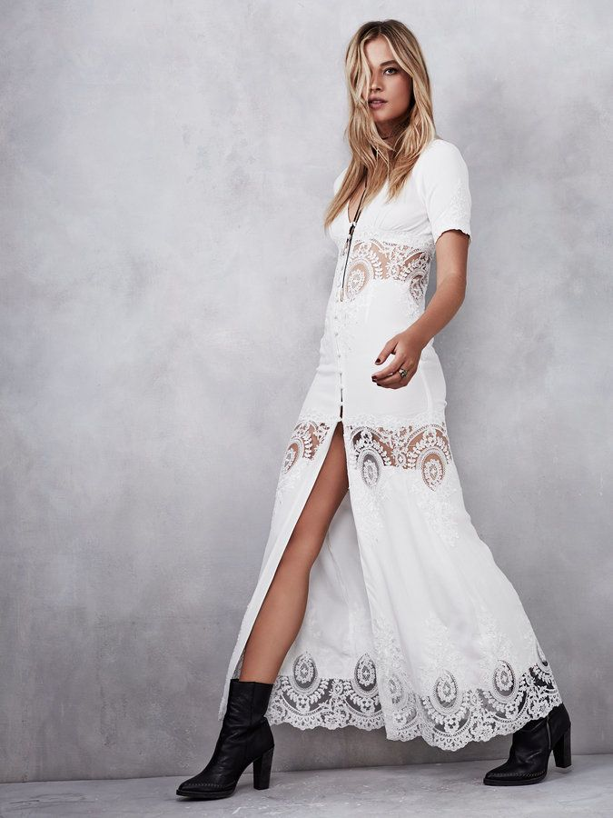 Free People Octavia Gown | Lace white dress, Lace dress ...