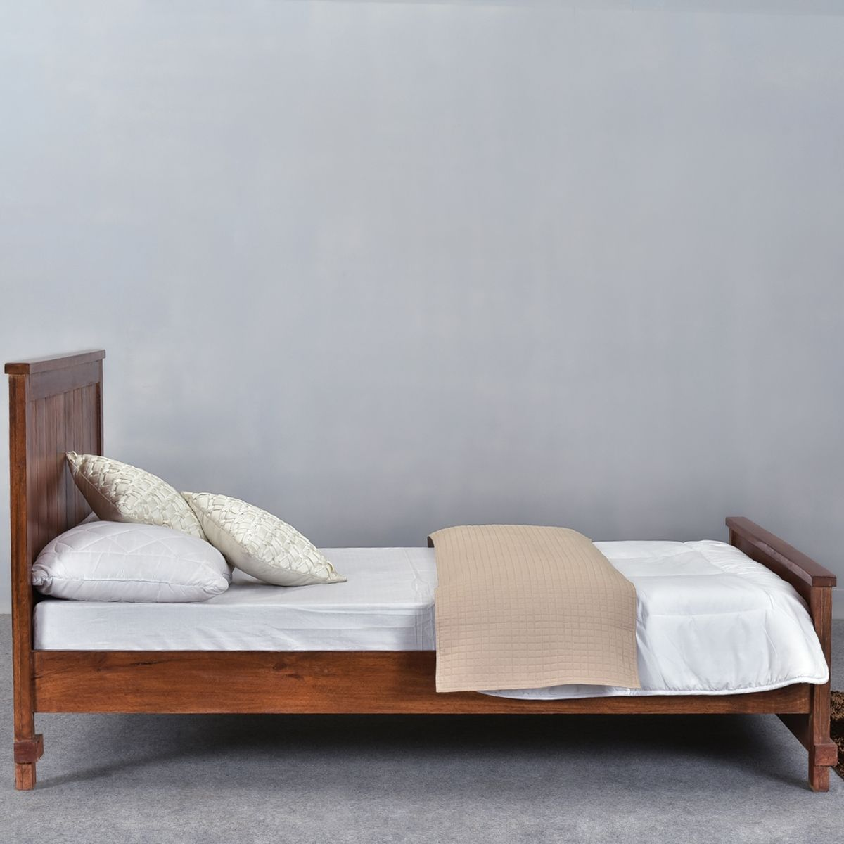 santa fe mission solid wood rustic platform bed w foot headboard