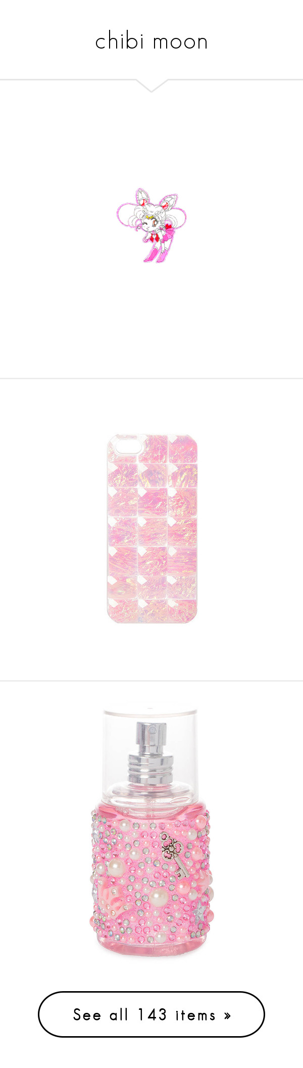 """chibi moon"" by patpotato ❤ liked on Polyvore featuring home, home decor, anime, fillers, sailor moon, characters, image, accessories, tech accessories and phone cases"