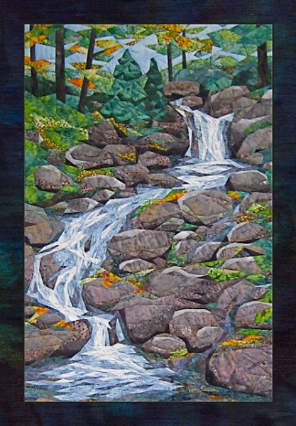 Quot Waterfall Quot Quilt Pattern By Cynthia England Landscape
