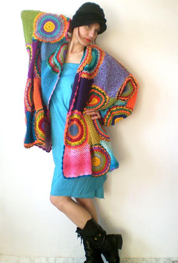 e9e975adbc79c Wearable Art Plus Size Open-Front Cardigan Women  Oversize Boho ...