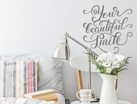 Englische Wandworte als Kompliment für dein Lächeln Wandtattoo - sprüche für die küchenwand
