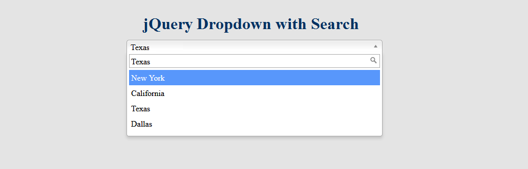 In this tutorial, I show how you create a dropdown with search box