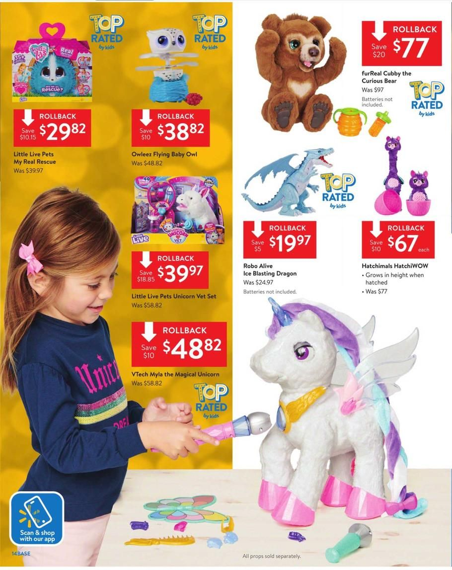 Walmart Toy Books Ad Scan Deals And Sales 2019 Page 14 Of 48 Walmart Toys Toys Little Live Pets