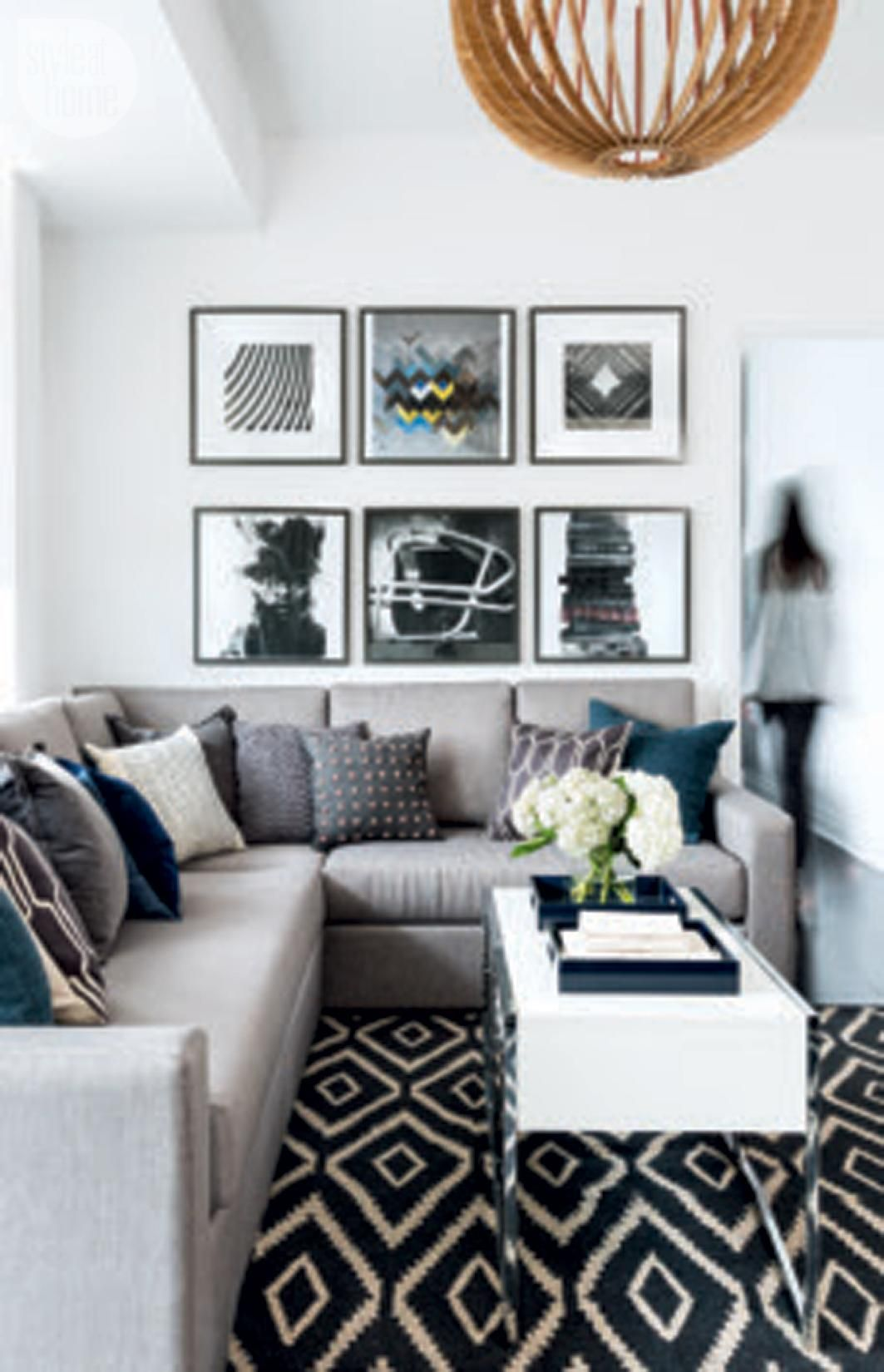 Condo tour modern and masculine condo condos and modern - Small space living design style ...
