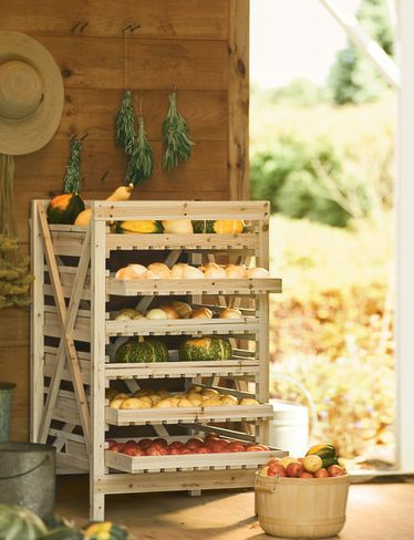 6-Drawer Vegetable Storage Rack is a Time-Tested Way to Store Your Harvest