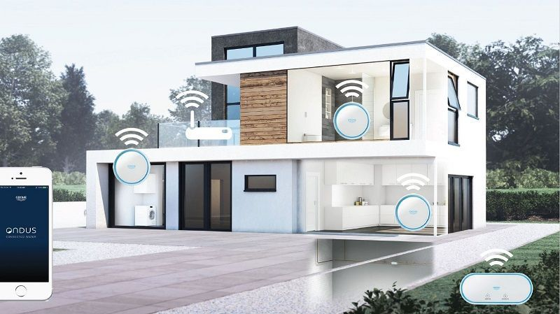 The GROHE Sense Smart Water Sensor Monitors Humidity, Detects Leaks And  Alerts Homeowners Instantly In Case Of A Problem, While GROHE Sense Guard  Is ...