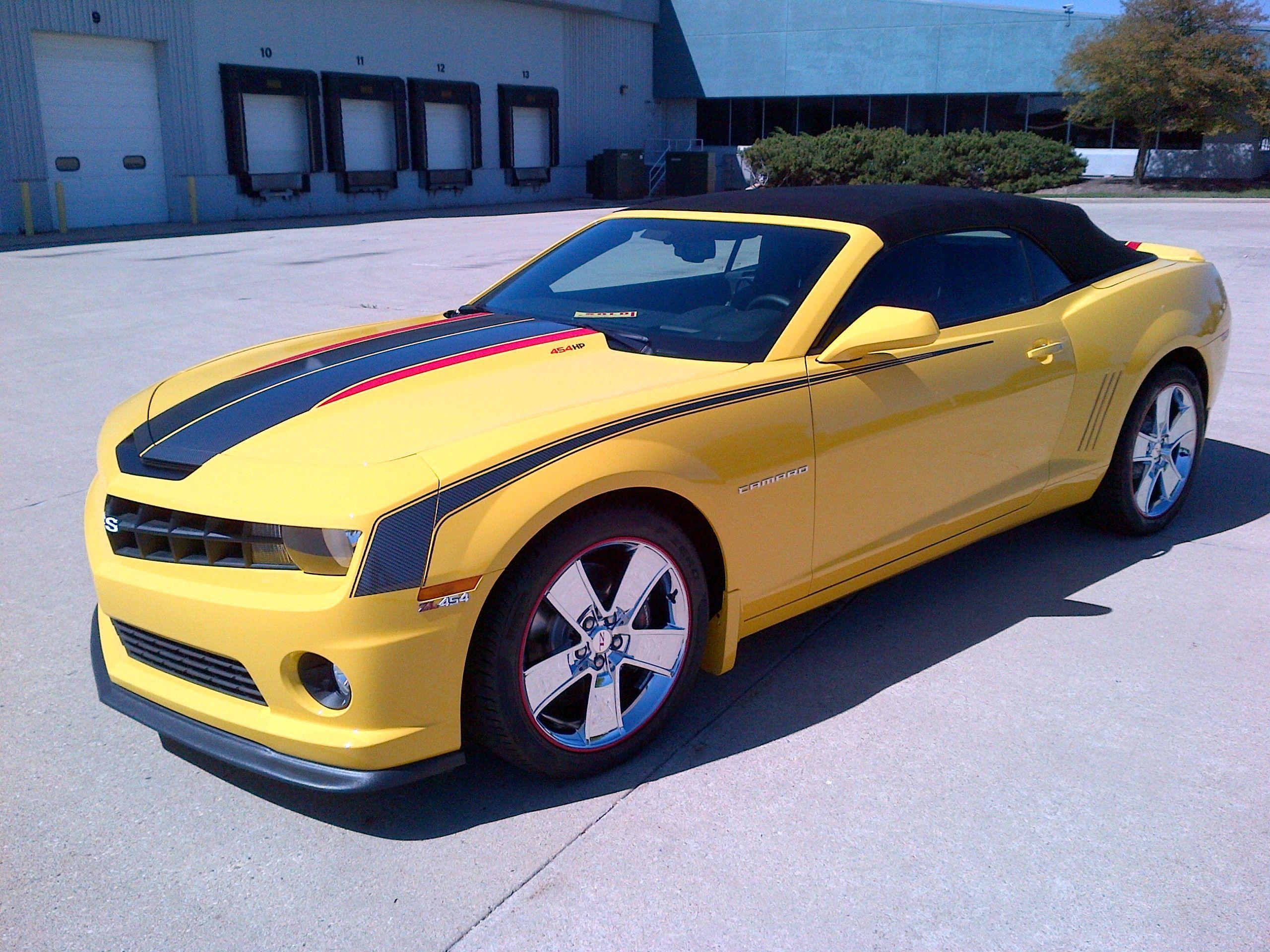 2012 Slp Zl454 Camaro Yellow With Custom Stripes Badges