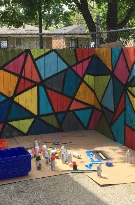 Englewood Chicago Outdoor Playground Revamp Bright Bold