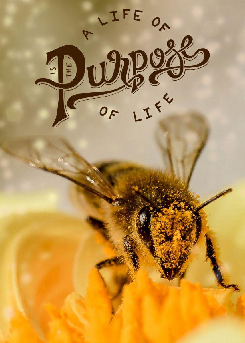 a life of purpose Text Art Poster Print | metal posters - Displate #art… | Displate thumbnail