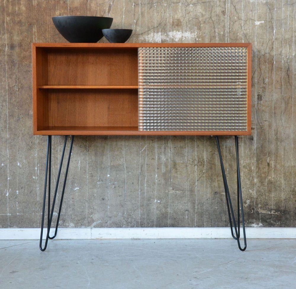 Pair of vintage danish rosewood and brushed steel side cabinets ref - 60er Kai Kristiansen Kommode Danish Design 60s Vintage Cabinet Eames Knoll Ra