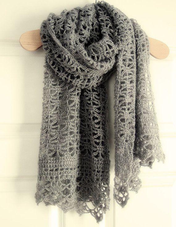 Crochet Pattern Pdf Lacy Crochet Shawl Pinterest Crochet Shawl
