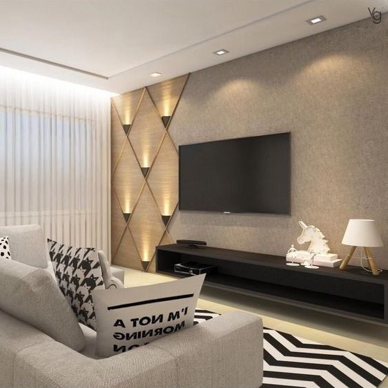 The Perfect Tv Wall Will Surprise The Guests Page 36 Of 56 Yeslime Living Room Theaters Tv Room Design Living Room Tv Wall
