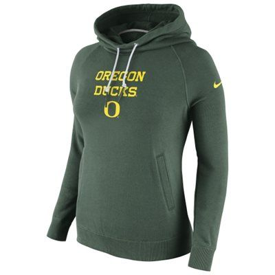 d68e5eae7790 Oregon Ducks Nike Women s Stadium Rally Funnel Neck Hoodie - Green ...