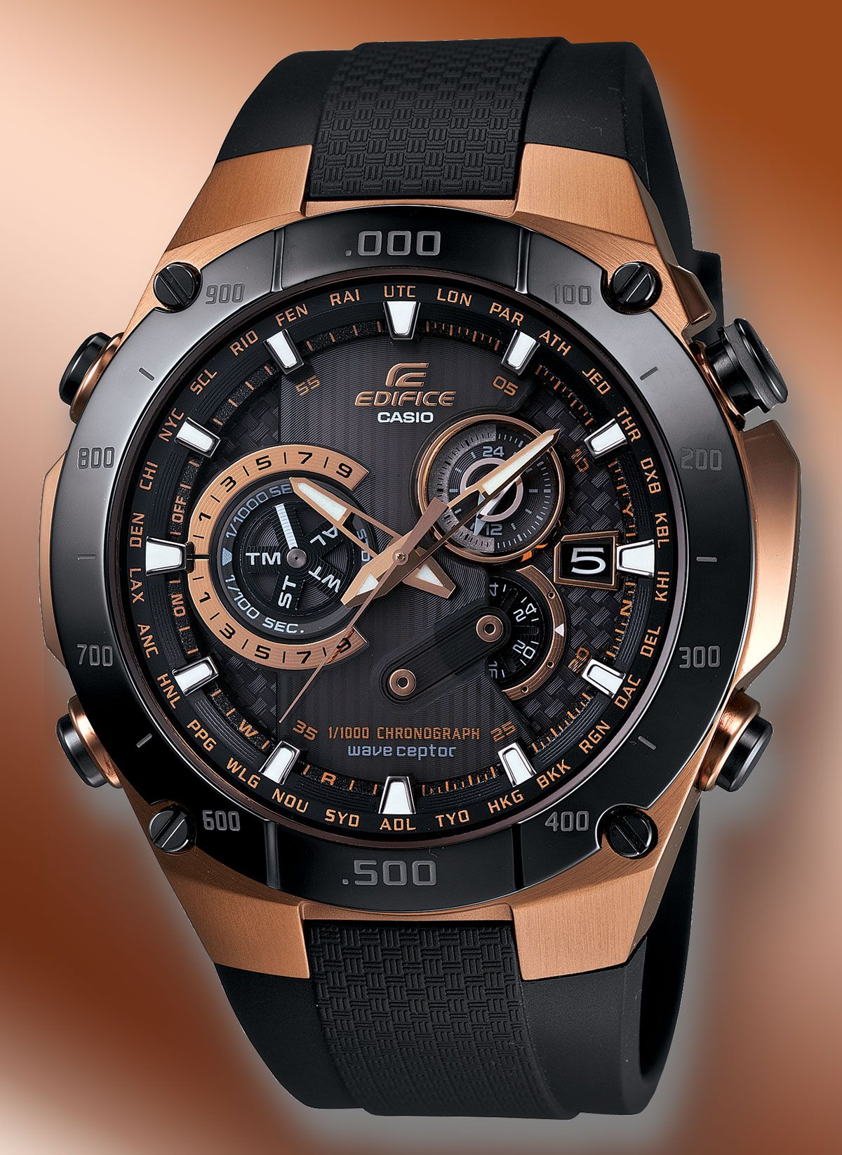 It is an image of Witty Casio Edifice Gold Label Efx 510p