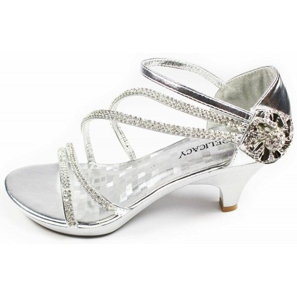 329ef693e5b2 V-Luxury JJF Shoes AG Silver Crystal Flower Rhinestone Evening Dress ...