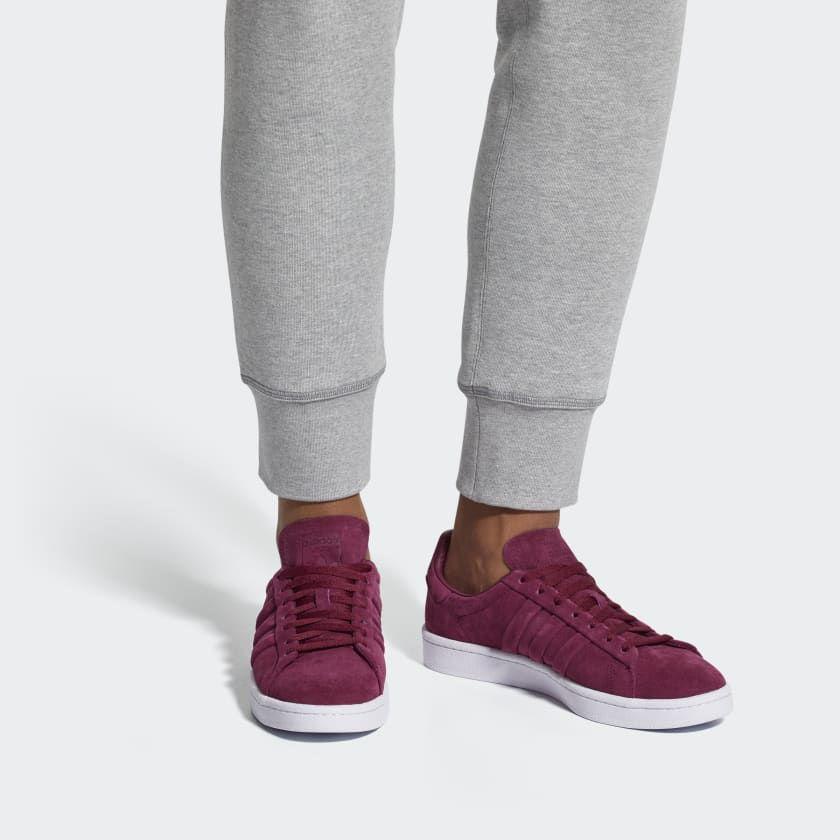 Adidas Originals Red Originals Campus Trainers In Purple