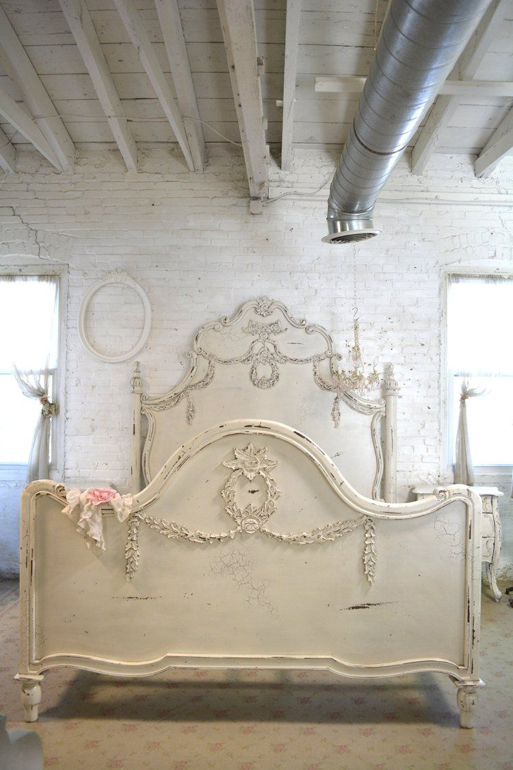 Painted Cottage Shabby Chic French Romantic Queen King Bed Etsy