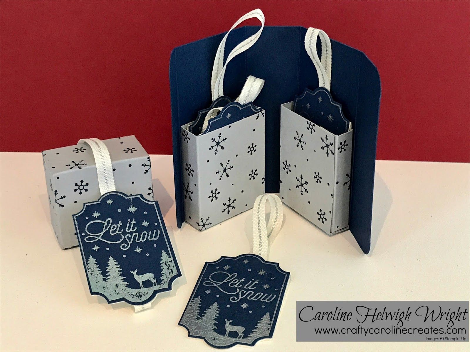 Merry Little Labels Gift Box  Video Tutorial And My