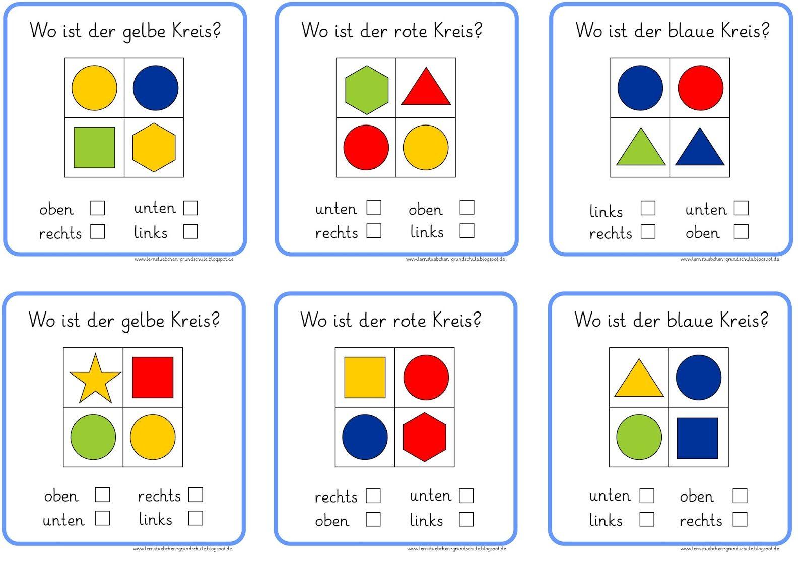 Lernstübchen: rechts links oben und unten | Depilación | Pinterest ...