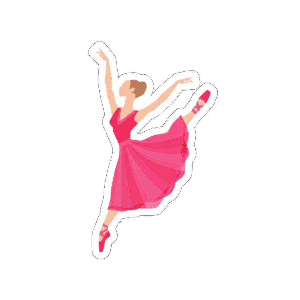 Ballet Dancer Sticker - 2 × 2 / White