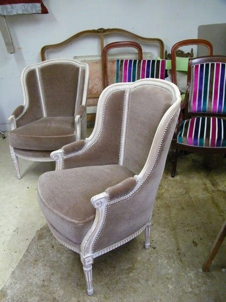fauteuil Louis VI cérusé | House shabby chic | Pinterest | Louis xvi ...