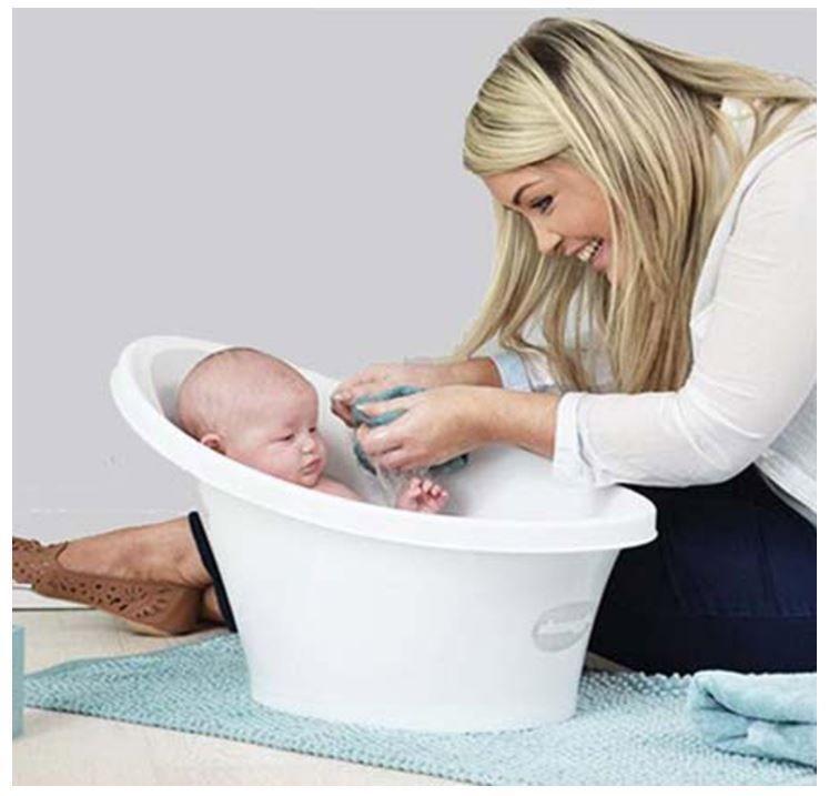 Shnuggle Baby Bath Tub, Kids Bathing Bathtub, Makes Shower Time Easy ...