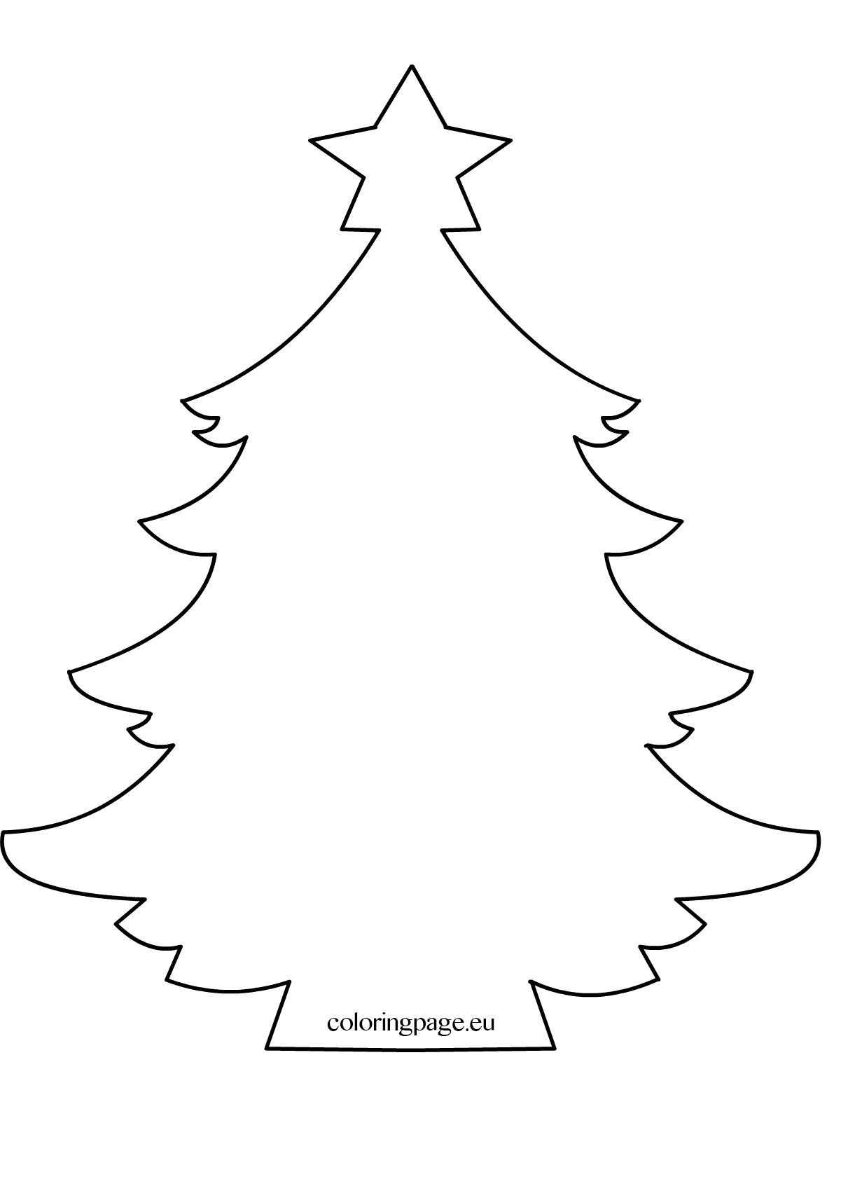 Free printable coloring pages for any occasion.  Christmas tree