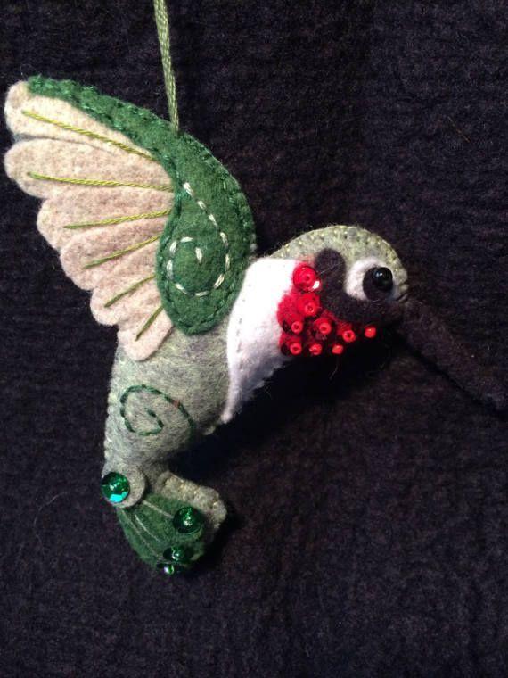 Resultado de imagen para felt ornament hummingbird #feltbirds