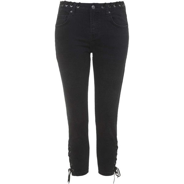 hot sales hot new products shopping TOPSHOP MOTO Lace-Up Lucas Jeans ($90) ❤ liked on Polyvore ...