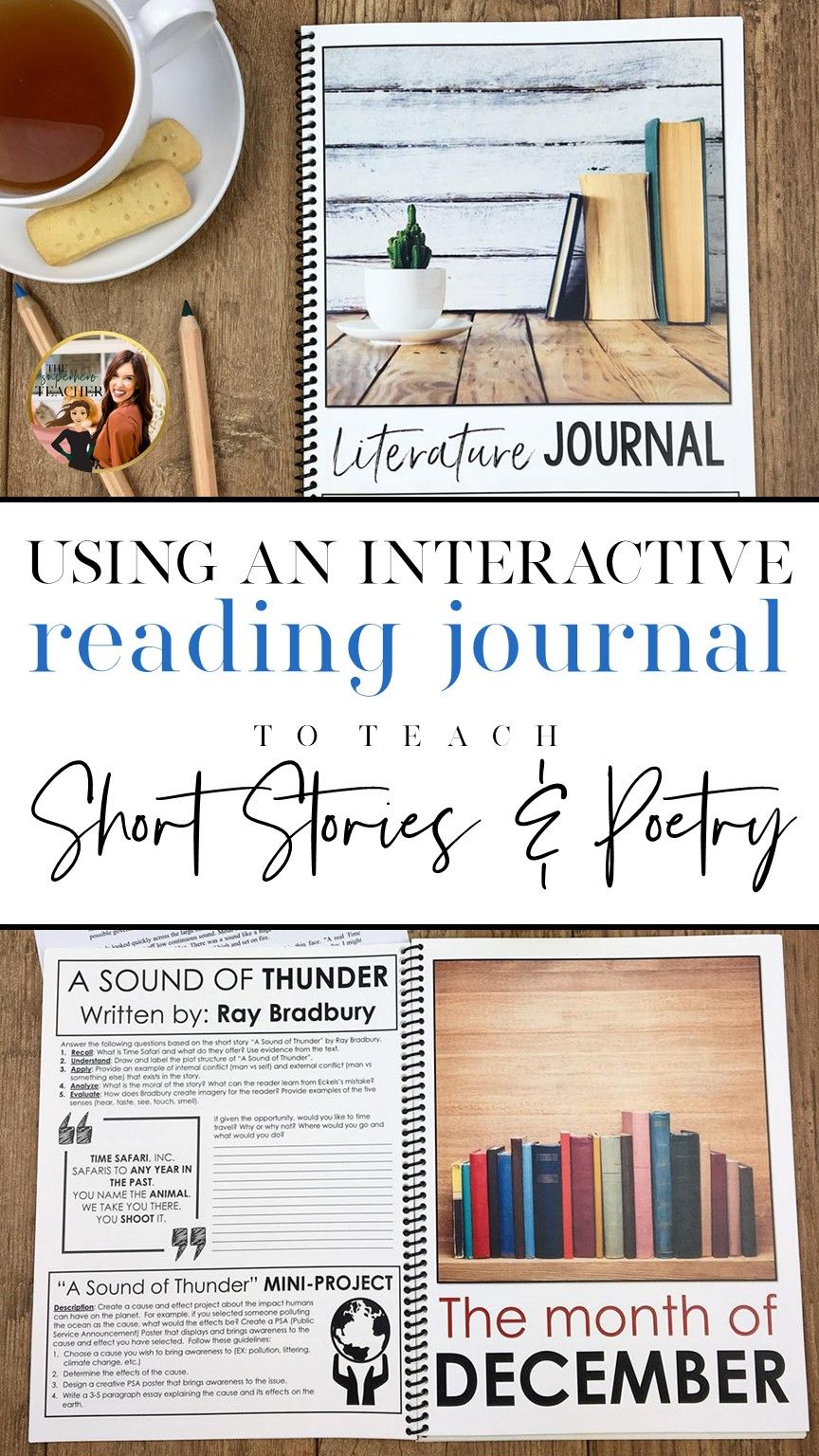 Reading Literature Journal For Grades 6 8 Activities For Short