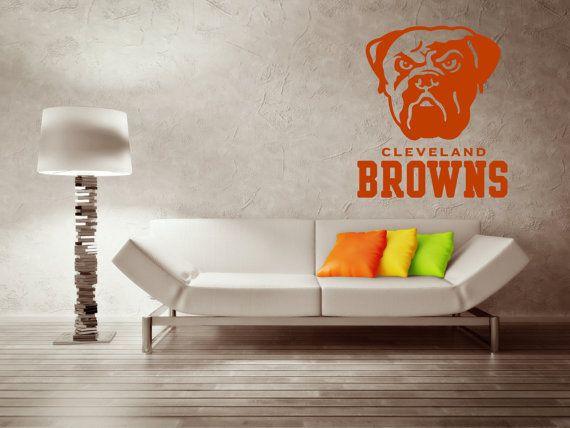 Cleveland Browns Premium Removable Wall Art Decor Decal Vinyl Sticker Salon Mural Canvas Size 46