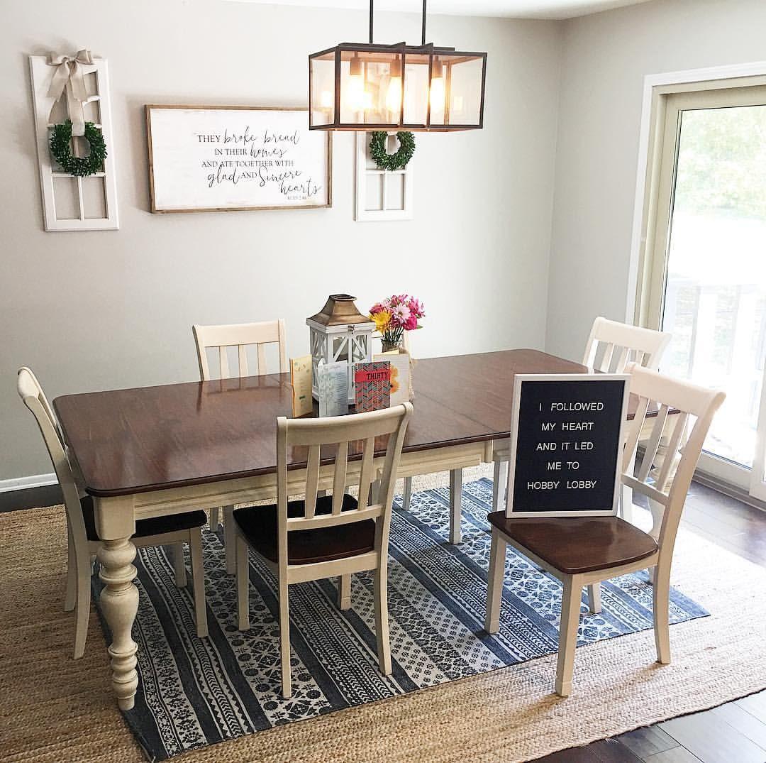 Dining Room Farmhouse Style Farmhouse Decor Natural Rug Boho